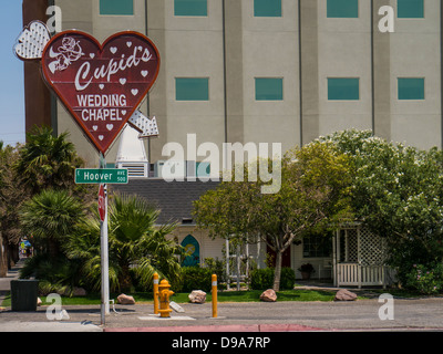 Cupid's Wedding Chapel, centre-ville de Las Vegas Banque D'Images