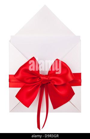 Invitation de mariage ou certificat-cadeau isolated on white Banque D'Images