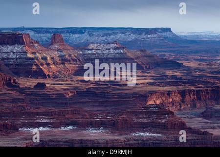 La vallée du Colorado à partir de Dead Horse Point, Utah, USA Banque D'Images