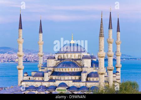 La Mosquée Bleue (Sultan Ahmet mosquée), Istanbul, Marmara province, la Turquie, l'Europe Banque D'Images