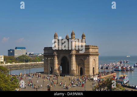 L'Inde, l'Inde, Asie, Maharashtra, Mumbai, Bombay, Ville, District, Colaba, porte de l'Inde, l'Inde du Sud, Bâtiment, Banque D'Images