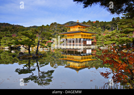 Temple du pavillon d'or de Kyoto au Japon. Banque D'Images
