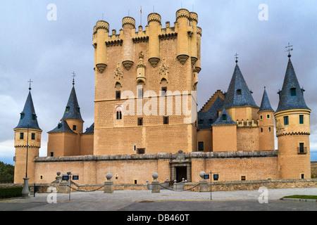 Château / Alcazar de Ségovie (Espagne) Banque D'Images