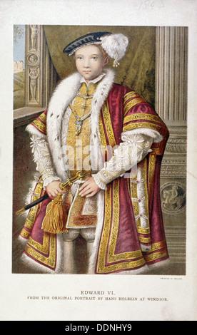Édouard VI, Roi d'Angleterre, c1552, (1793). Artiste: Francesco Bartolozzi Banque D'Images