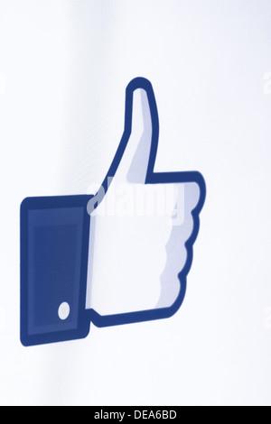 Facebook comme Banque D'Images