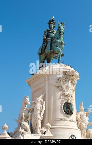 Monument du roi José I, Lisbonne, Portugal Banque D'Images