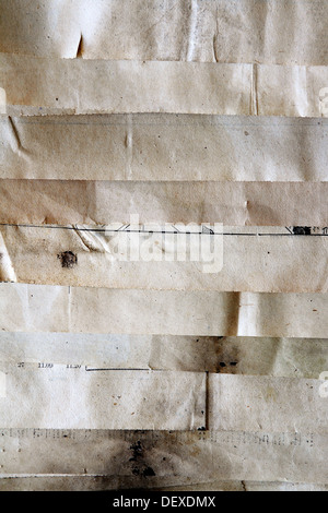 Closeup of old grunge textures papier Banque D'Images
