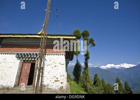 L'Inde, le Sikkim, Pelling, Sangachoeling Gompa, le deuxième plus ancien Gompa au Sikkim Banque D'Images