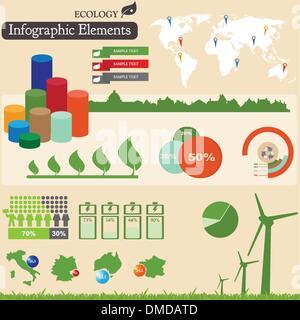 Éléments infographiques. Écologie Banque D'Images
