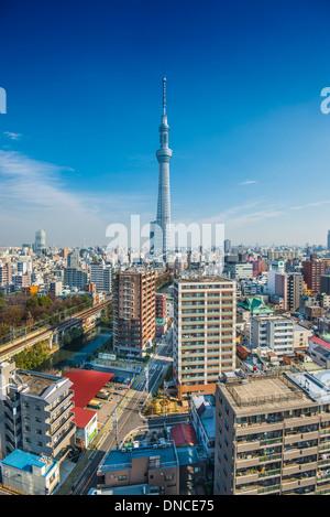 Tokyo, Japon Tokyo Skytree skyline. Banque D'Images