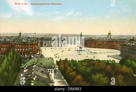 La Place du Palais et colonne Alexandre, St Petersburg Banque D'Images