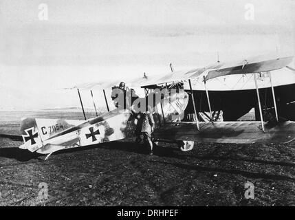 Biplan allemand sur la Palestine, la Turquie, WW1 Banque D'Images