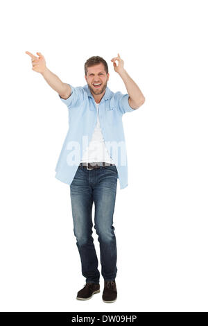 Cheerful Young man posing Banque D'Images