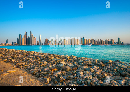 Gratte-ciel de Dubaï Marina. Émirats arabes unis Banque D'Images