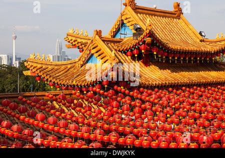 Thean Hou Temple à Kuala Lumpur en Malaisie, le Nouvel An chinois Banque D'Images