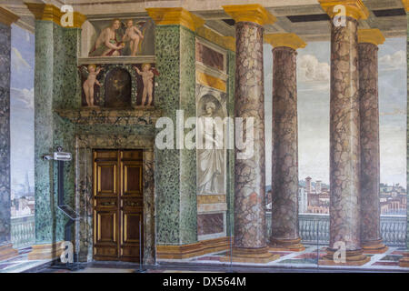 Perspectives' Hall, villa Farnesina, Rome, Latium, Italie Banque D'Images