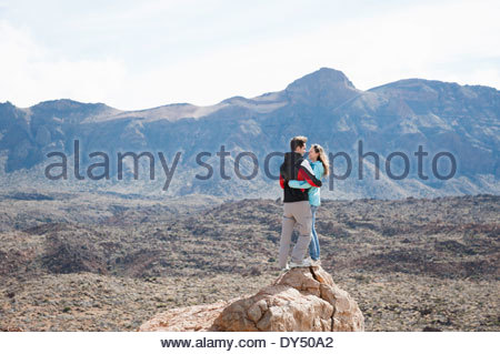Couple rock, le Parc National du Teide Banque D'Images