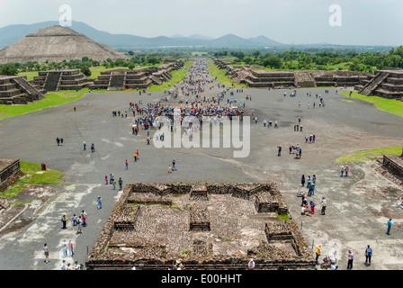 Site archéologique de Teotihuacan près de mexico Banque D'Images