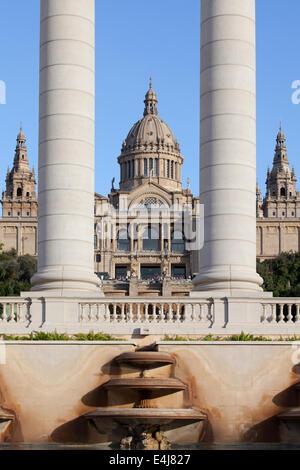 Musée national d'Art de Catalogne à Barcelone, Espagne. Banque D'Images