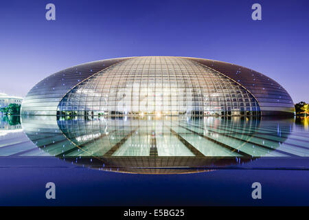 National Centre for the Performing Arts à Beijing, Chine. Banque D'Images
