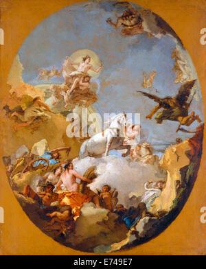 Le char d'Aurora - par Giovanni Battista Tiepolo, 1700 Banque D'Images