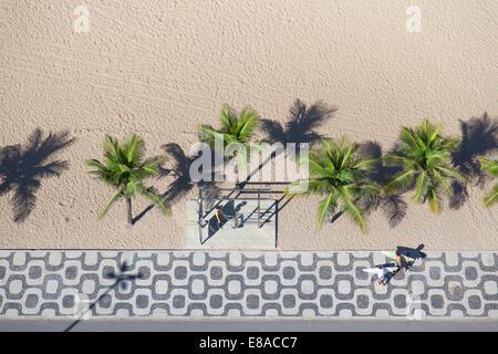 Vue aérienne de la plage d'Ipanema, Rio de Janeiro, Brésil Banque D'Images