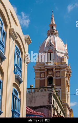 La vieille ville de Cartagena de Indias, Colombie, Amérique du Sud Banque D'Images