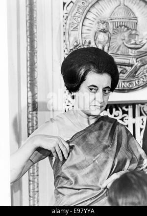 Indira Gandhi, Premier ministre Indira Gandhi de l'Inde Banque D'Images
