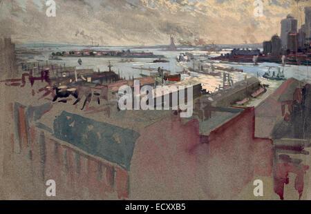 Baie de New York de la Margaret, vers 1922 Banque D'Images