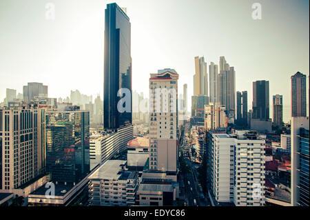 Des toits de la ville de Panama, Panama Banque D'Images
