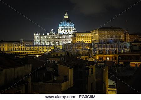 Vue de la Basilique Saint-Pierre et le Vatican Banque D'Images