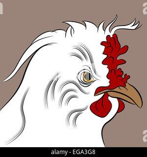 L'image d'une poule fluffed. Banque D'Images