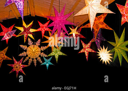 Étoile de Noël couleur Banque D'Images