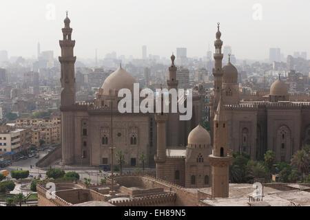 Mosquée du Sultan Hassan dans la vieille ville du Caire, Le Caire, Egypte, Afrique du Nord, Afrique Banque D'Images