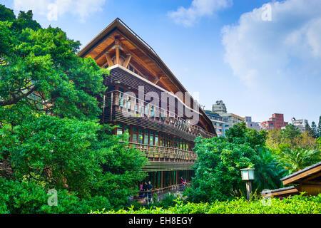 La bibliothèque de Beitou à Taipei, Taiwan. Banque D'Images