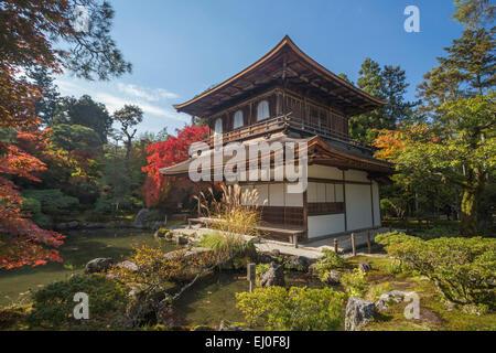 Patrimoine mondial, Ginkaku-ji, Japon, Asie, Kansai, Kyoto, Japon, paysage, architecture, Automne, couleurs, jardin, Banque D'Images