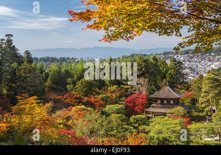 Patrimoine mondial, Ginkaku-ji, Japon, Asie, Kansai, Kyoto, Japon, paysage, architecture, automne, Automne, couleurs, Banque D'Images