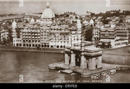 Porte de l'Inde ancienne vintage Bombay Mumbai Maharashtra Inde Banque D'Images