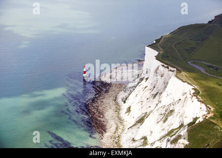 Photographies aériennes de Ulm des South Downs et Beachy Head, Phare et sept Sœurs de falaises, Eastbourne, Royaume Banque D'Images