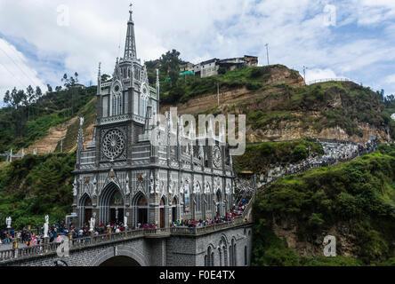Sanctuaire de Las Lajas Ipiales, Colombie Banque D'Images