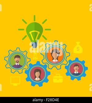 Émergence de nouvelles idée créative, notion d'équipe efficace Banque D'Images