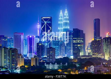 Kuala Lumpur, Malaisie sur les toits de la ville. Banque D'Images