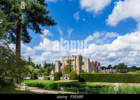 Le château de Hever, maison de famille de Anne Boleyn, Hever, Kent, England, UK Banque D'Images