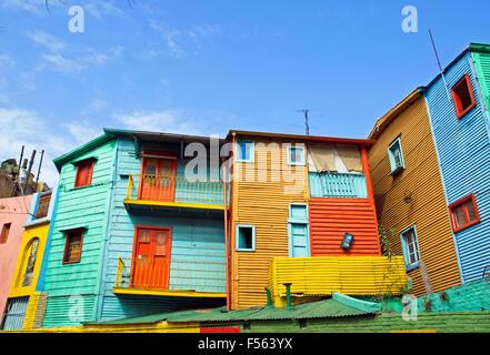 Les bâtiments colorés de La Boca à Buenos Aires Banque D'Images