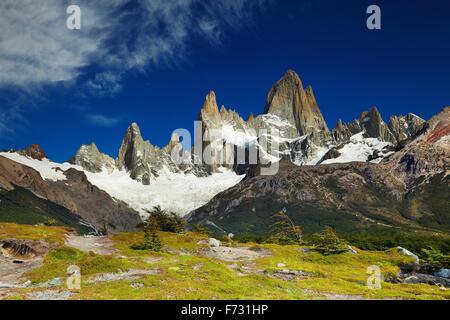 Le mont Fitz Roy, le Parc National Los Glaciares, Patagonie, Argentine Banque D'Images