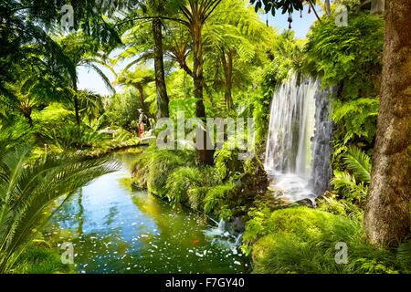 Monte Palace Tropical Garden (jardin japonais) - Funchal, monte, l'île de Madère, Portugal Banque D'Images