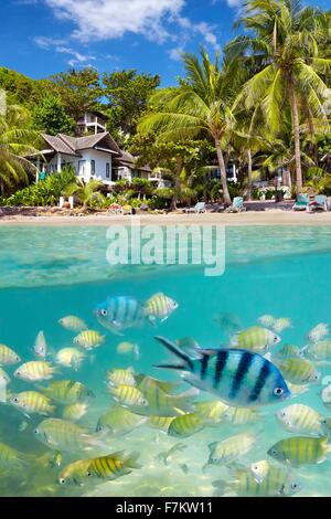 Plage de la Thaïlande, l'Île de Ko Samet, Thailande, Asie Banque D'Images