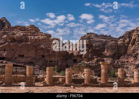 Belle Petra en Jordanie Banque D'Images