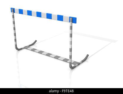 L'athlétisme obstacle isolé sur fond blanc - le rendu 3D Banque D'Images