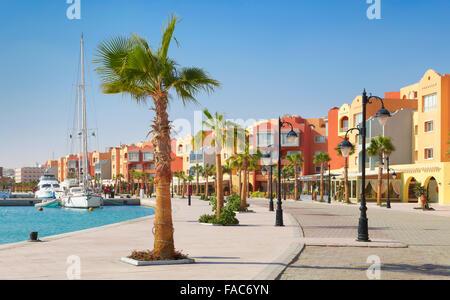 Egypte - Hurghada city, Marina Banque D'Images